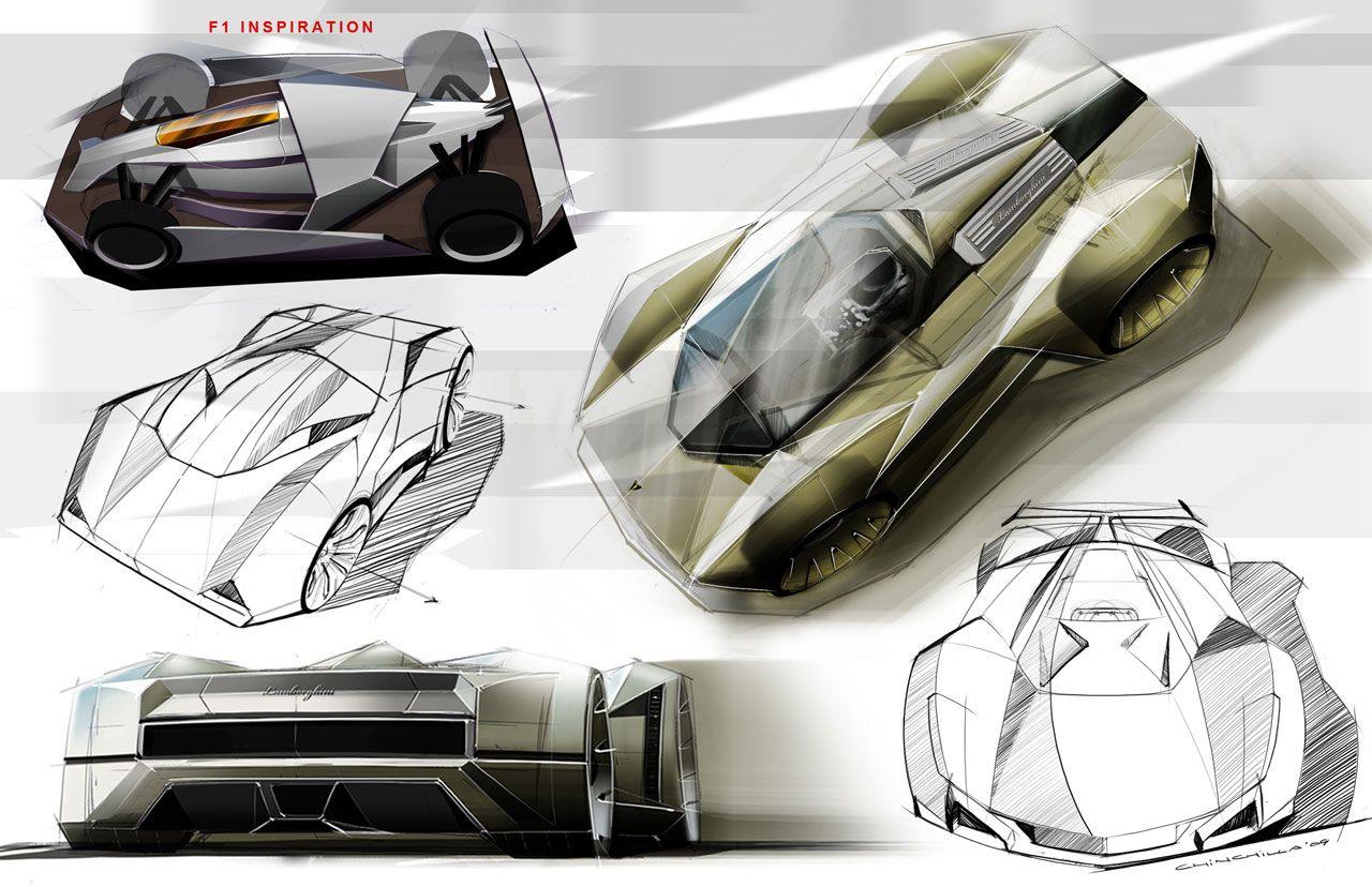 Lamborghini Le Mans Concept Design Sketch
