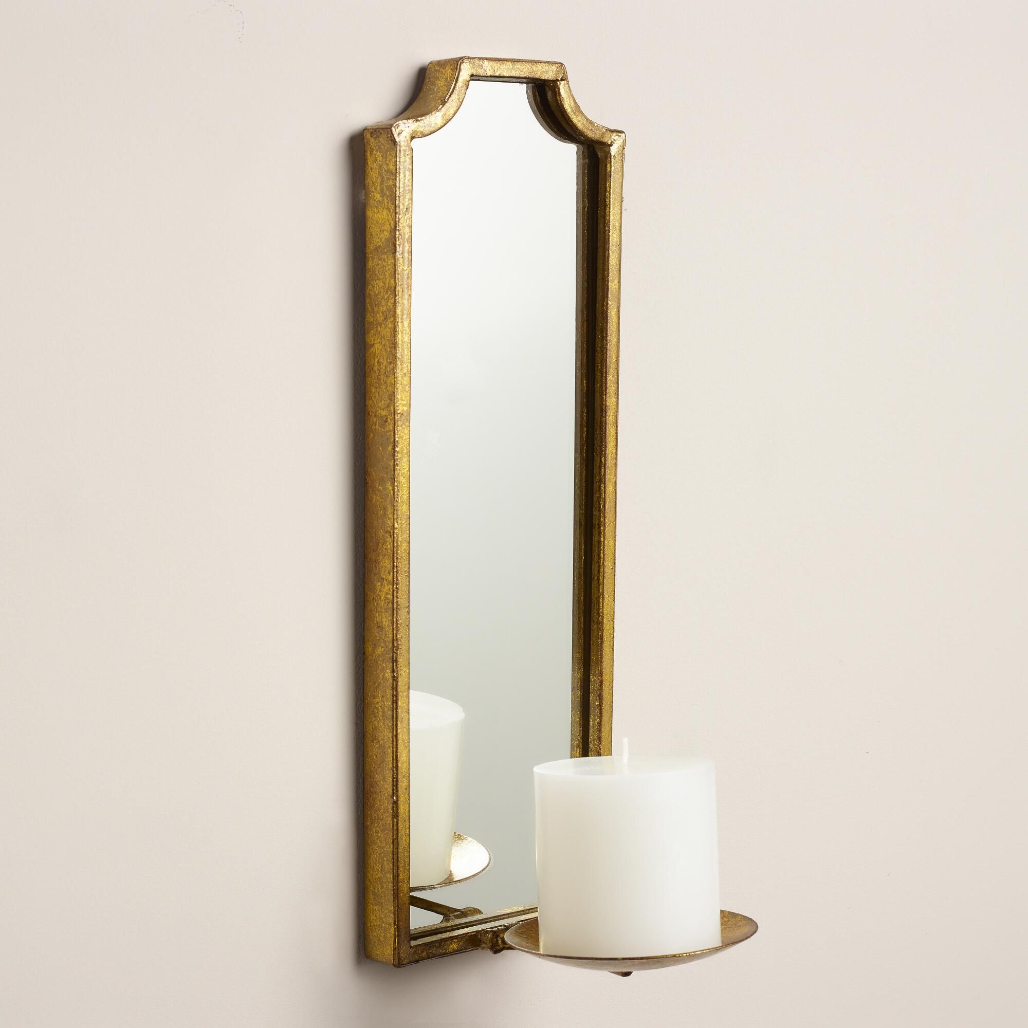Antique gold rectangular emma sconce mirror panels antique gold antique gold rectangular emma sconce amipublicfo Images