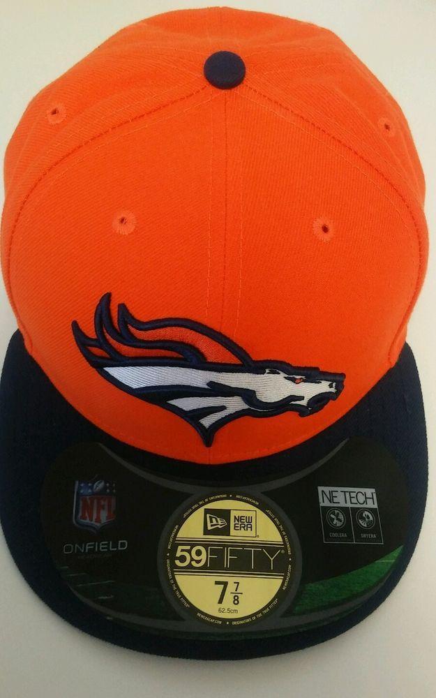 Denver Broncos New Era On-Field Low Crown 59FIFTY Fitted Hat - Orange -NFL  7 7 8  ec530a1e1af1