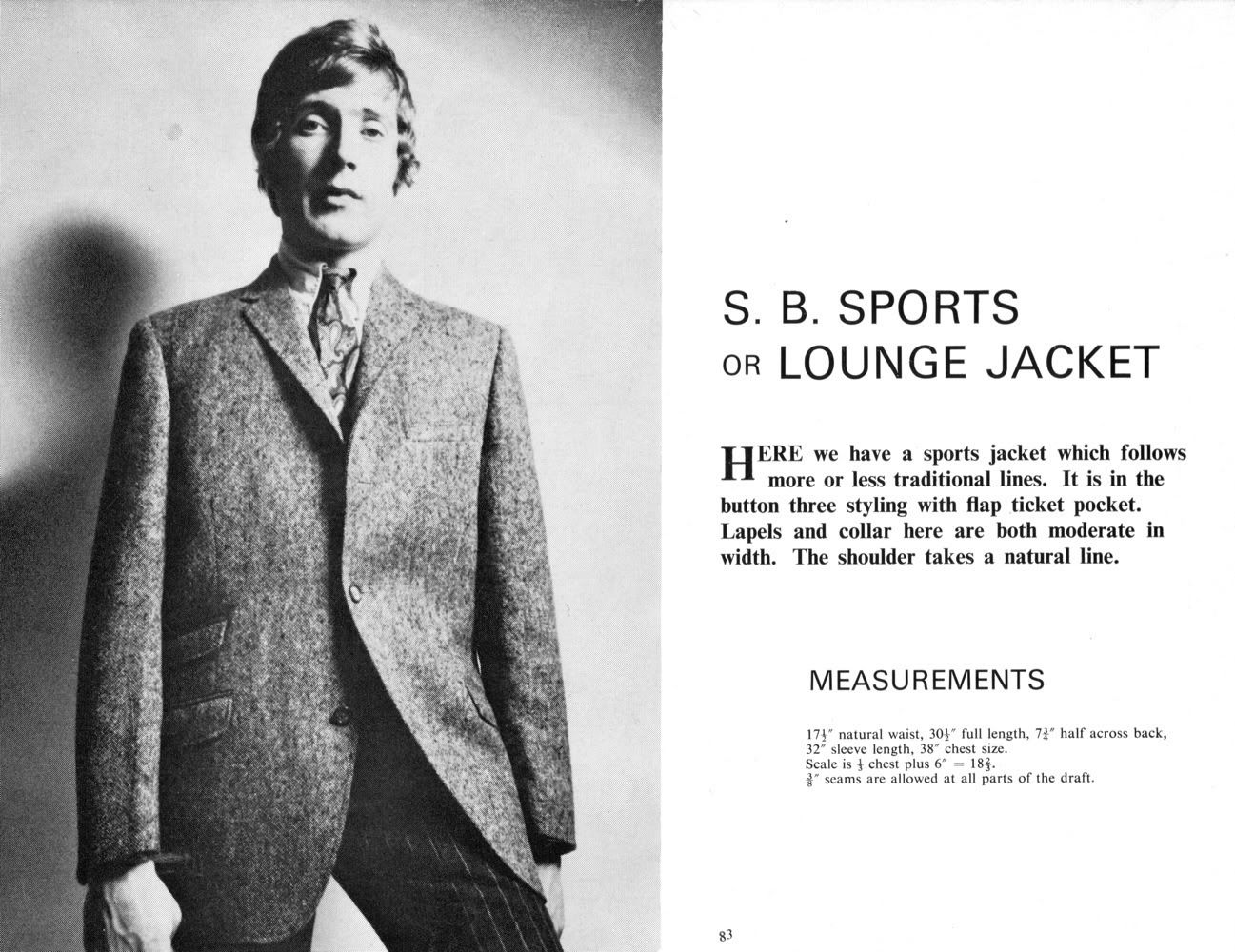 Mens jacket pattern making - Tailor And Cutter Lounge Coat System Sports Jacket Variation From Advanced Practical Designing For Men S Clothing From Cutter And Tailor Forum