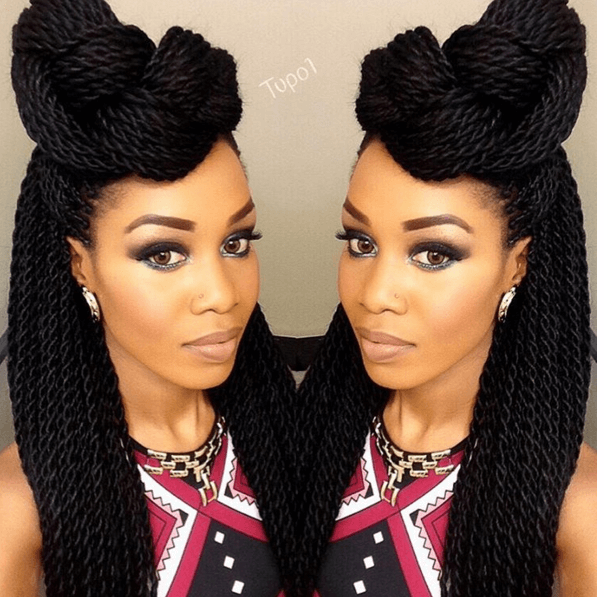 Gorgeous Senegalese Twists Updo Styles | Senegalese twist ...