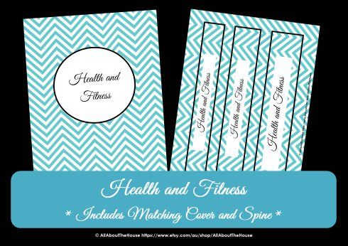 Health and Fitness Kit - 31 sheets including a personalised binder - workout log sheets
