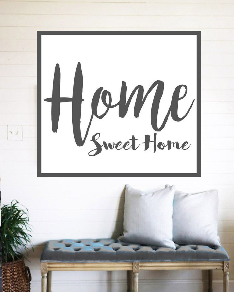 Home sweet home farmhouse sign rustic wall decor rustic wall