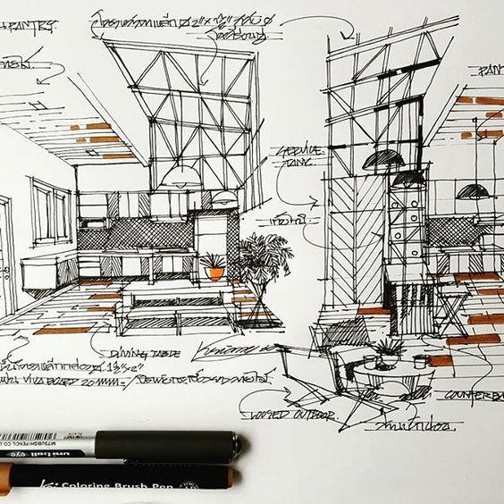 Sketch Design Interior Interior Design Sketchbook Hospital Interior Design Interior Design Sketches