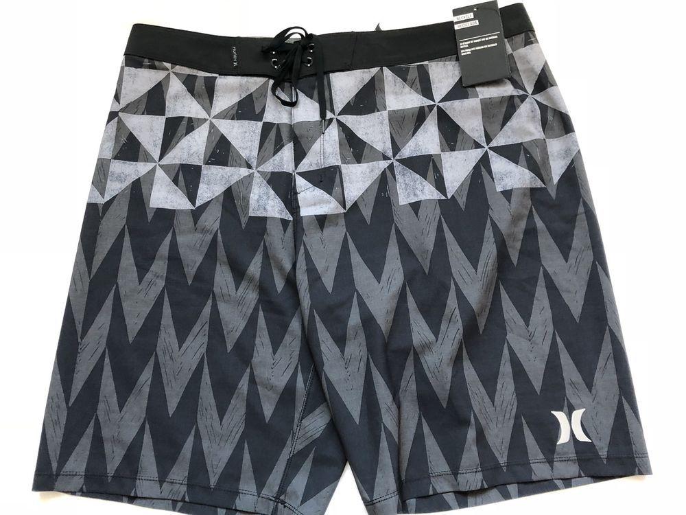 HURLEY Surf Shorts Mens Spandex Board Shorts Gym Shorts Bermudas Shorts SZ30-38