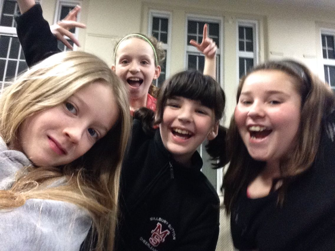 My best friends ever!!!  Liana is the awesome girl to the very right Rachael is the smiling girl to lianas left Chloe is the photo bombing bomb in the background. And then there's me