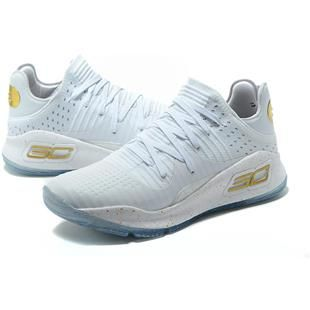 "6b3b9527e5f Under Armour Curry 4 Low ""Chef"" White and Gold For Sale"