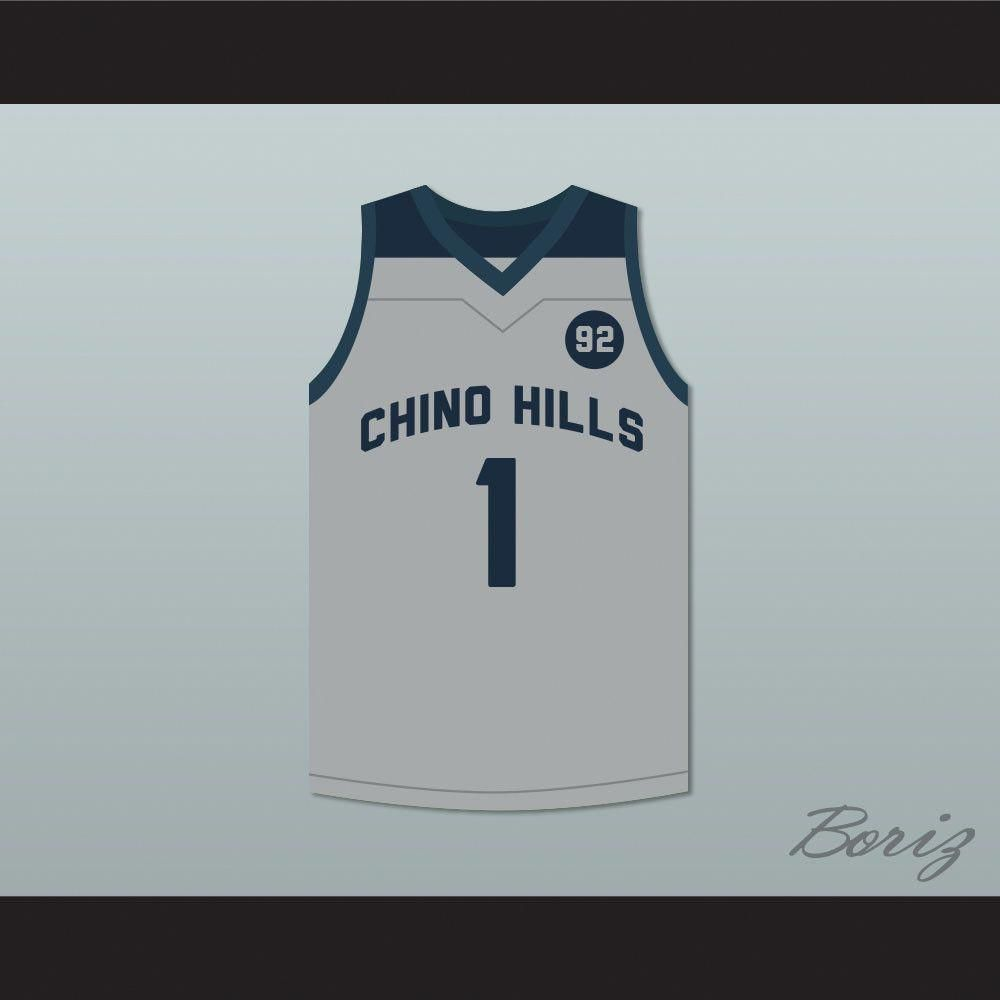 f00836cb7be LaMelo Ball 1 Chino Hills Huskies Gray Basketball Jersey 92 Points. STITCH  SEWN GRAPHICS CUSTOM