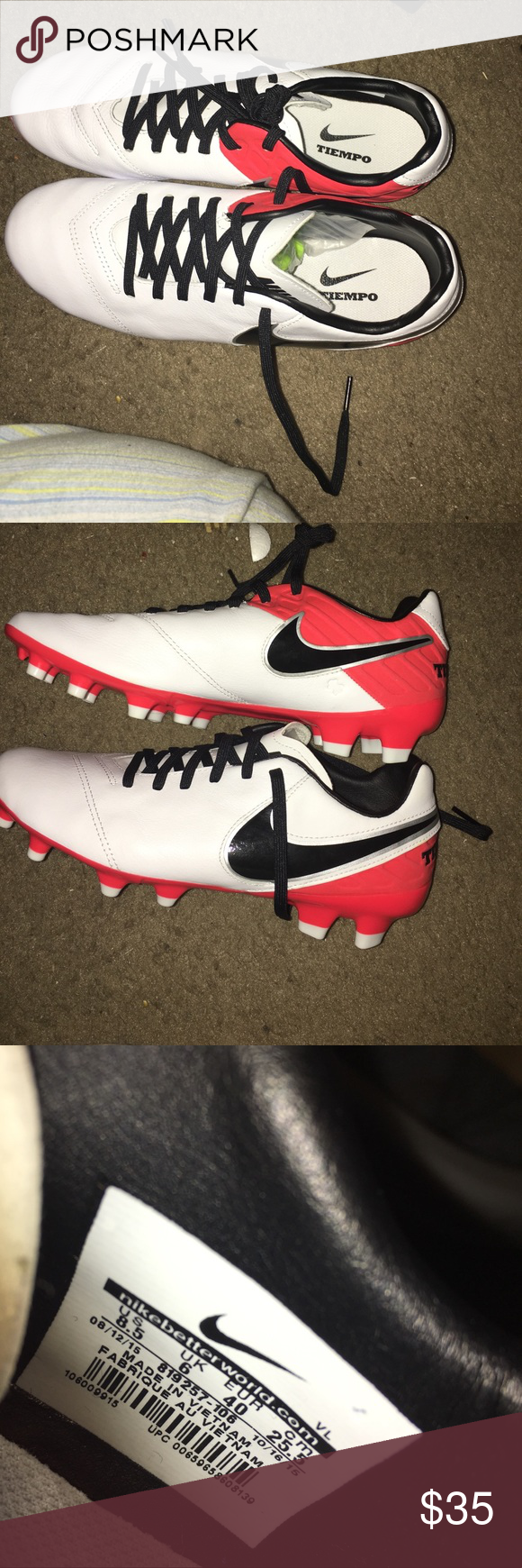 Nike tiempo cleats Brand new never worn size women 7 men they do run small  so it would best fit a 8 women and men Nike Shoes Athletic Shoes