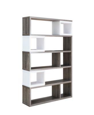 Best Furniture Of America Ellie Modern Two Tone Bookcase 400 x 300