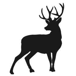 photo regarding Deer Silhouette Printable referred to as Deer silhouette Silhouettes Deer silhouette, Deer