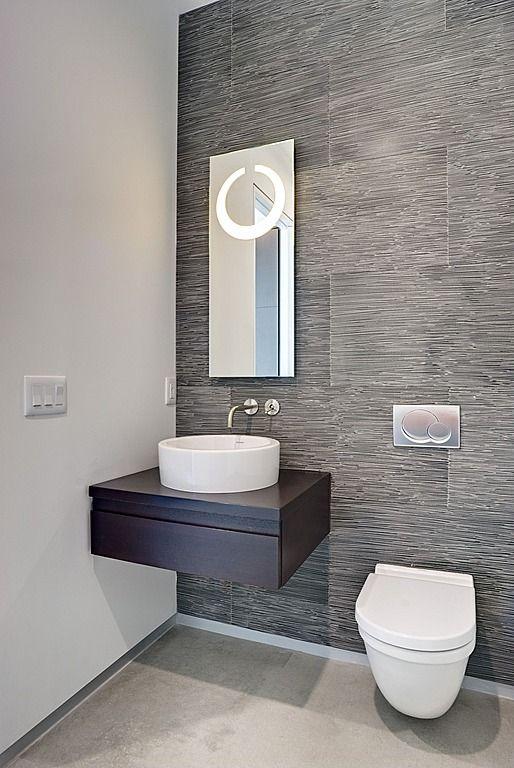 Wood concrete contemporary modern wallpaper european for Modern half bathroom ideas