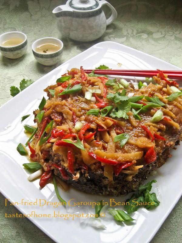 Recipe chinese pan fried fish dragon garoupa in bean sauce chinese food recipes forumfinder Image collections