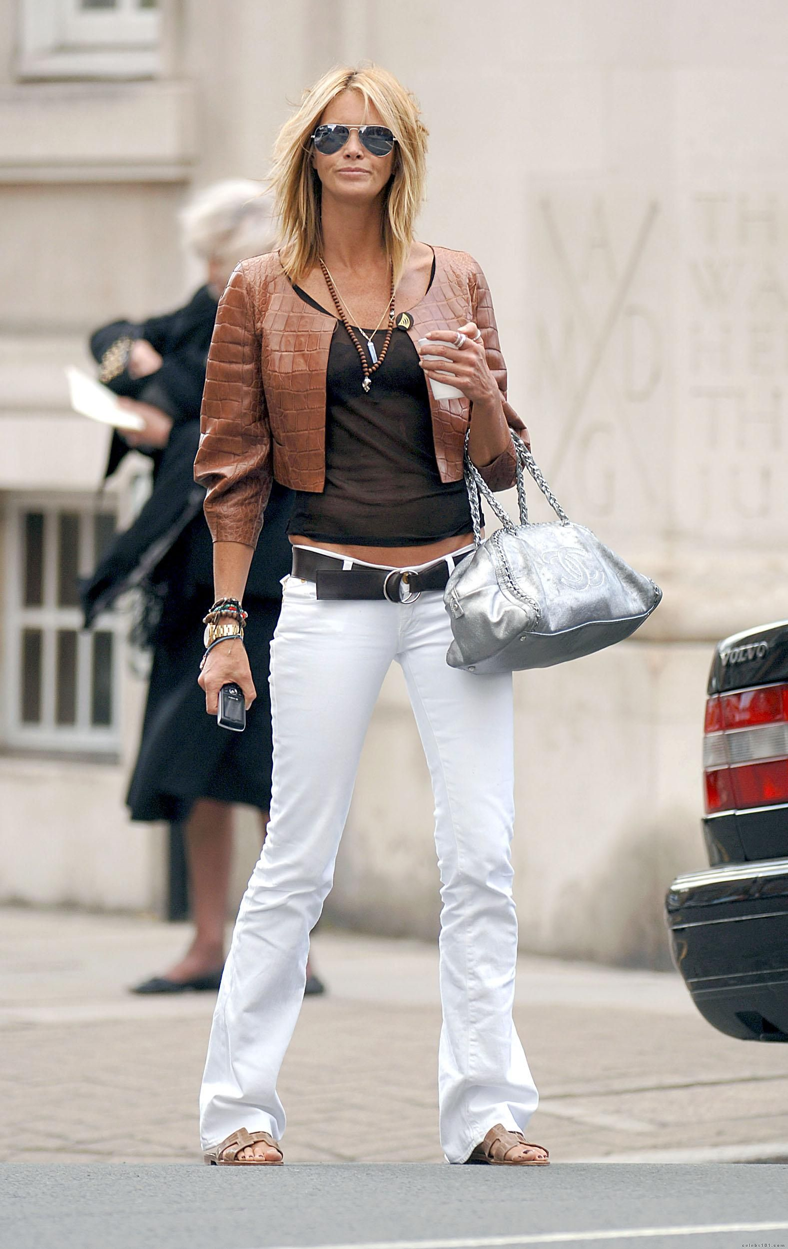Casual Look Haare Elle Macpherson Street Style I Love The Way She Dresses In