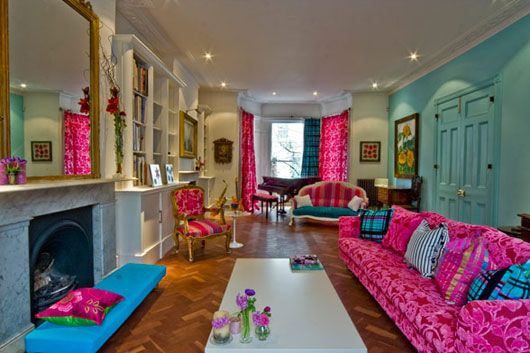 Colorful Home Interior On Portland Road In London Random Things - Colorful-home-interior-on-portland-road-in-london
