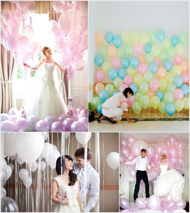 сватбена декорация с балони