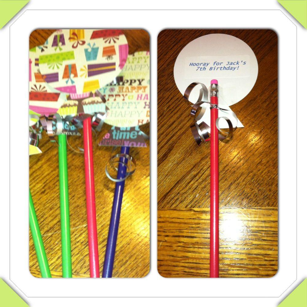 Birthday Treats For School Balloon Pencils School Birthday Treats Classroom Birthday Treats School Birthday