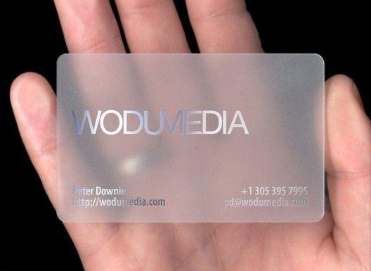 Metallic Print On Acrylic Plastic Business Cards Printing