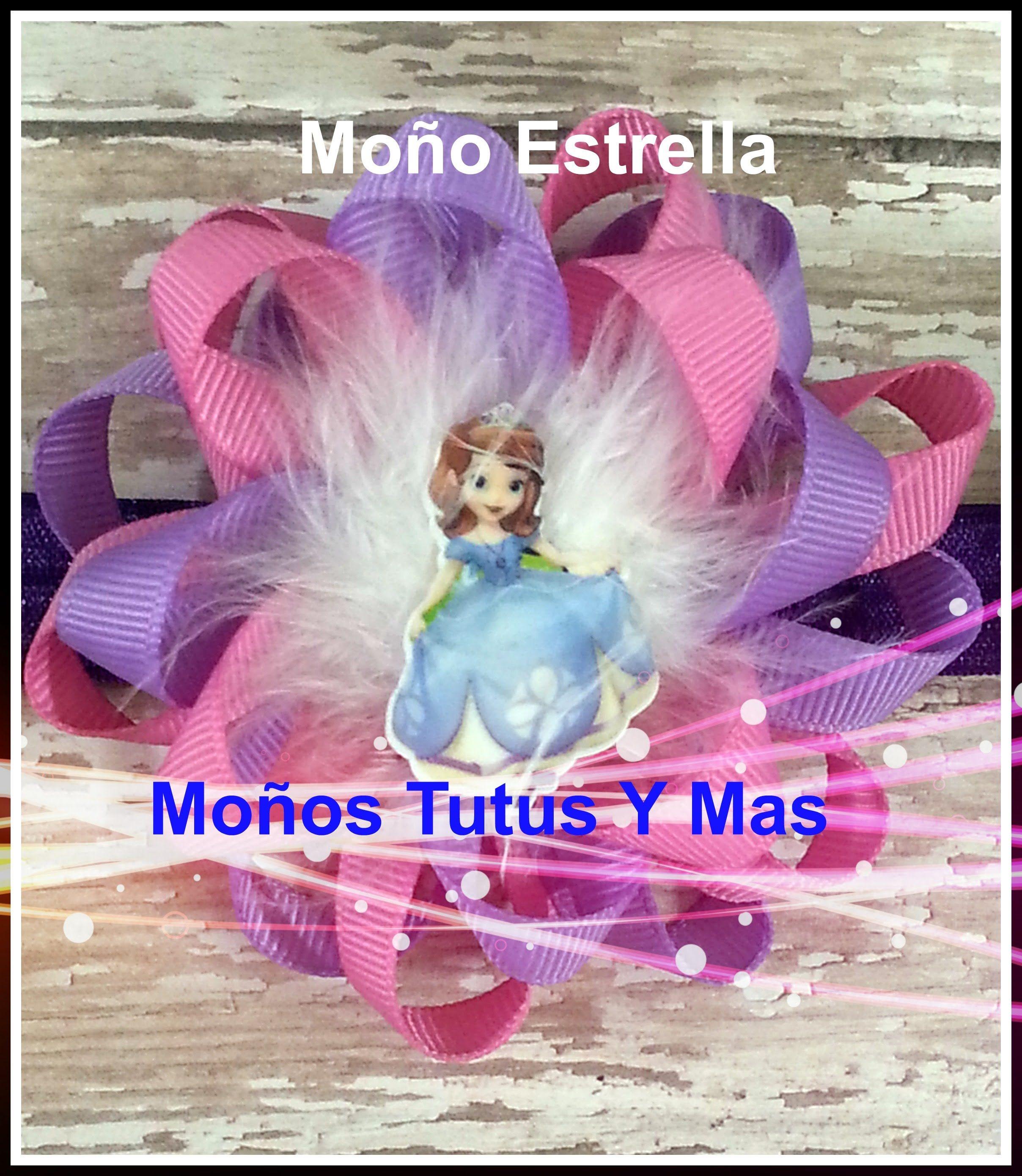 PAP Moño Estrella Paso a Paso Lazo Flor LOOP HAIR BOW Tutorial DIY - YouTube