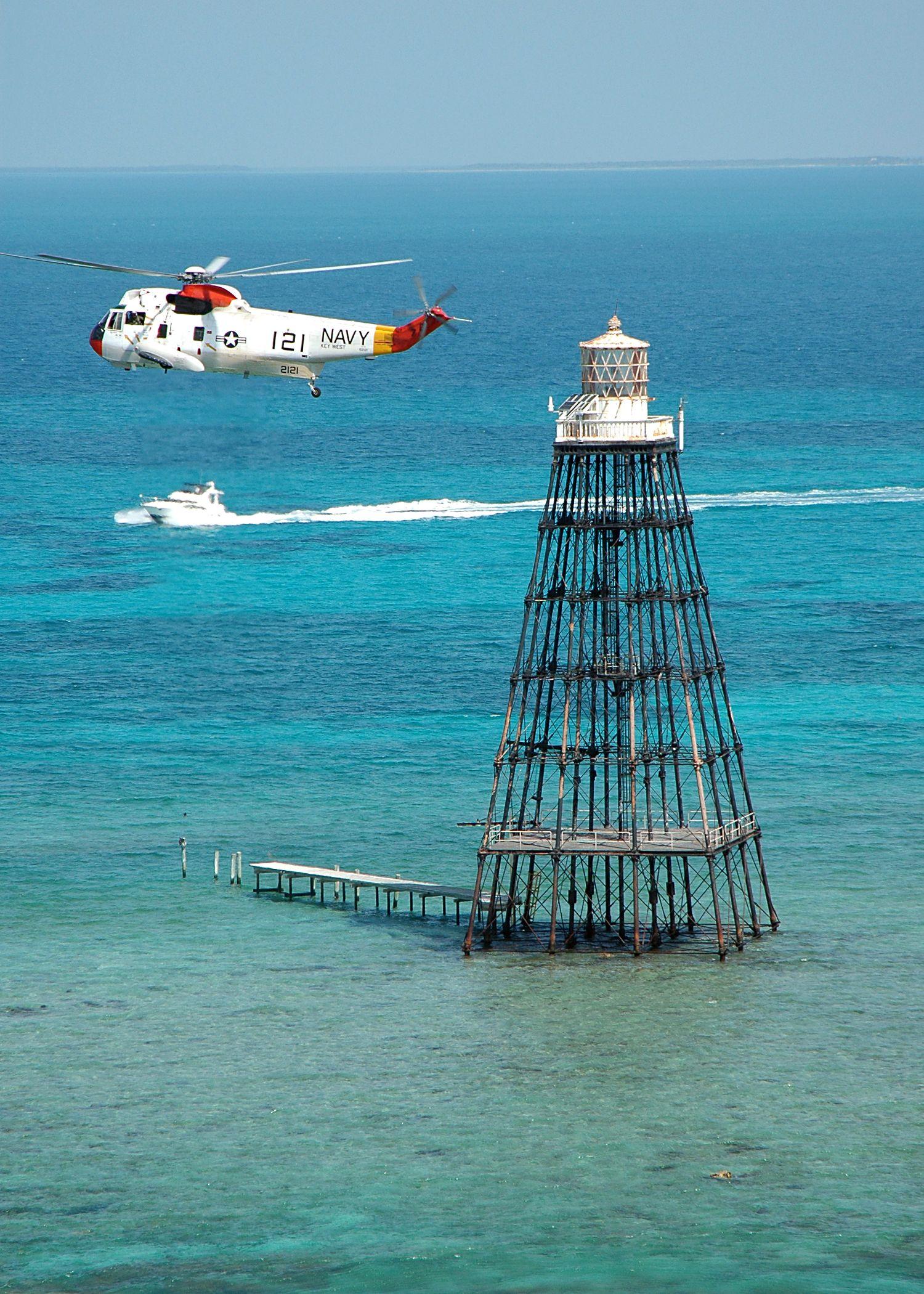 Sand Key Light - Location southwest of Key West, Florida