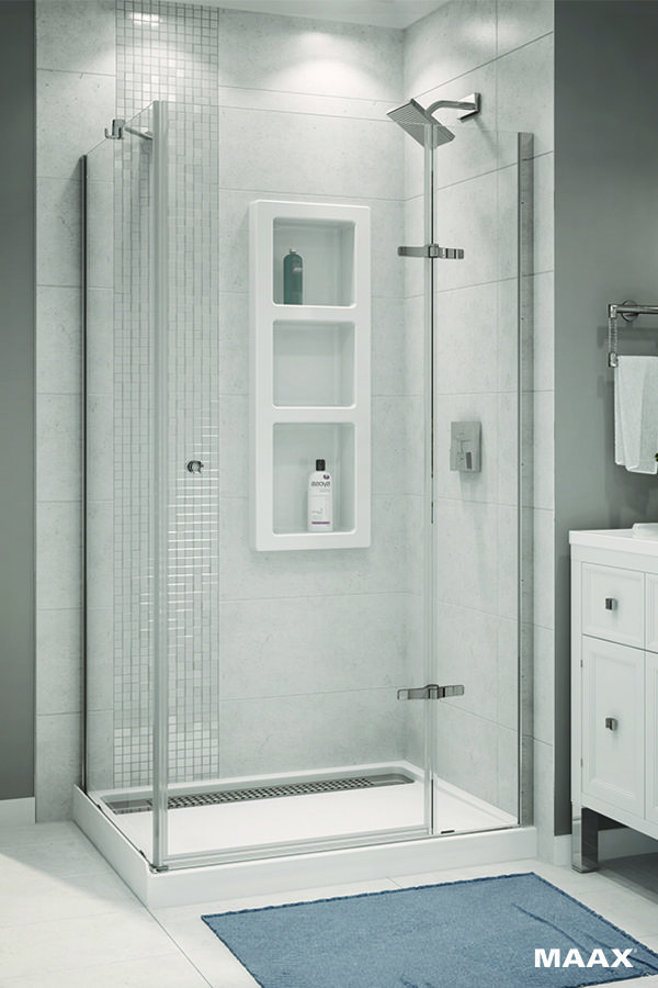 Build a chic yet spacious shower with the MAAX® Athena 42\'\' x 34 ...
