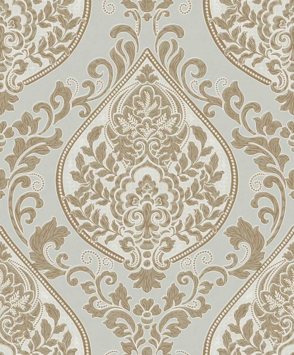 Thankful Soft Green wallpaper by Vymura Fabric wallpaper