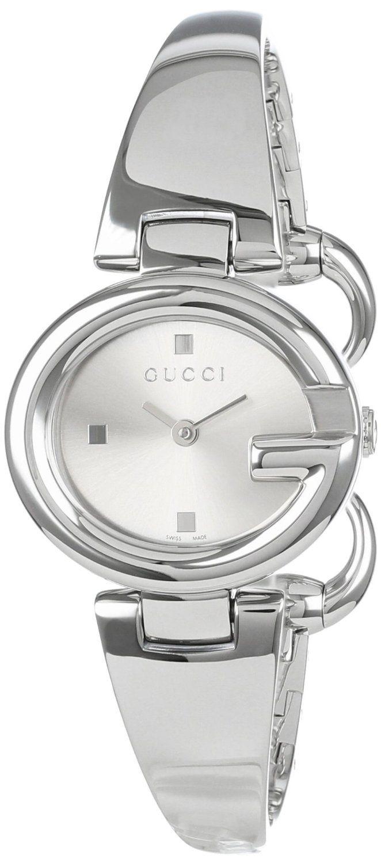 d3acaefc2ff Gucci Women s YA134502 Guccissima Fashion Bangle Silver Dial Watch ...