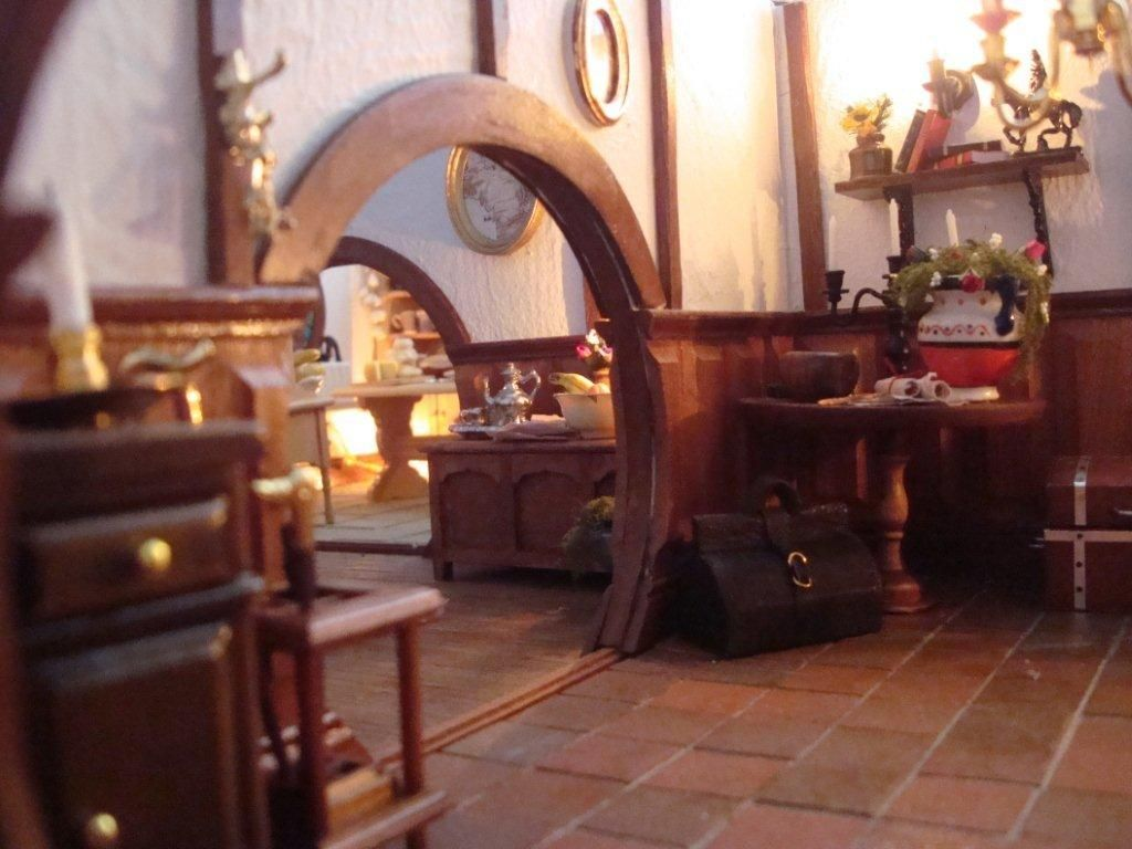 tiny incredibly detailed mini bag end interior and exterior miniature housesminiature dollshobbit homethe hobbitlord - Lord Of The Rings Hobbit Home