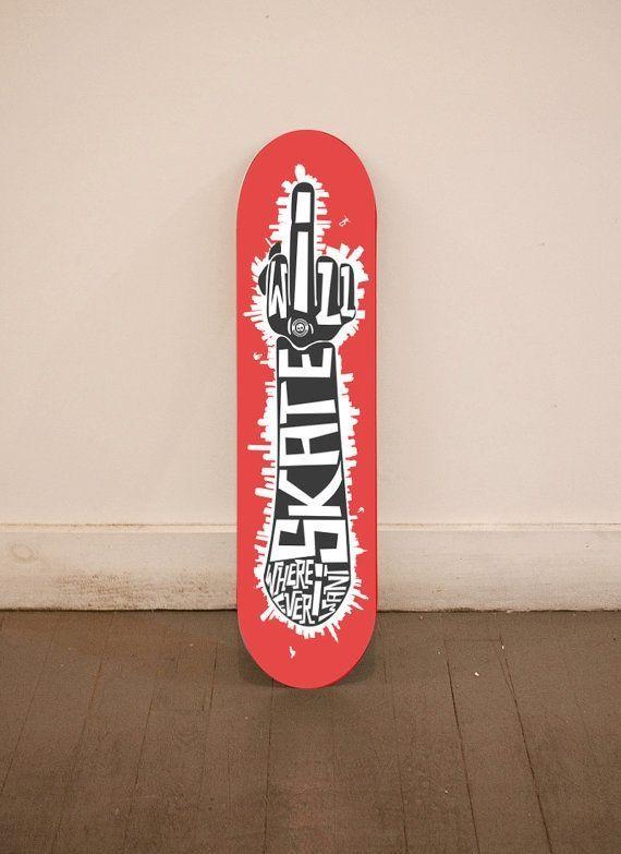 FU board custom skateboard deck #skate #board #typography | Decks