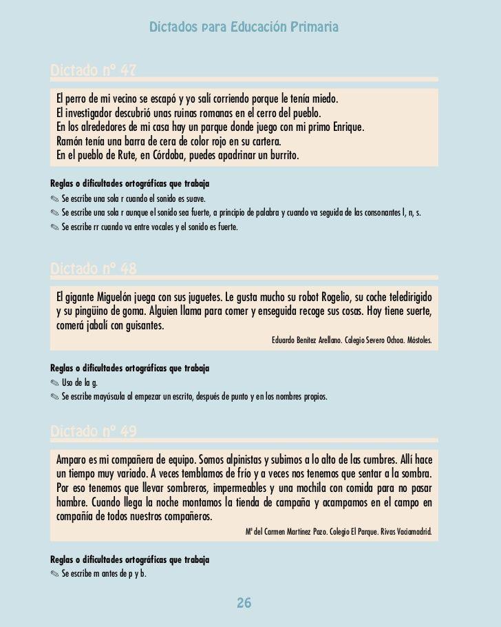 Dictados para Primaria de la Comunidad de Madrid | vivianca ...