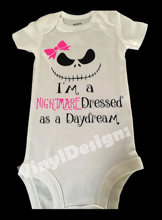 this is for a nightmare before christmas themed onesie nightmare dressed like a daydream custom - Nightmare Before Christmas Baby Onesie