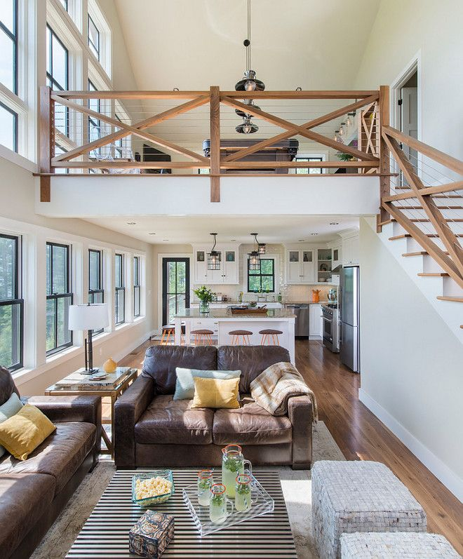 Love The Railing And Loft Look With The Windows. Would Be