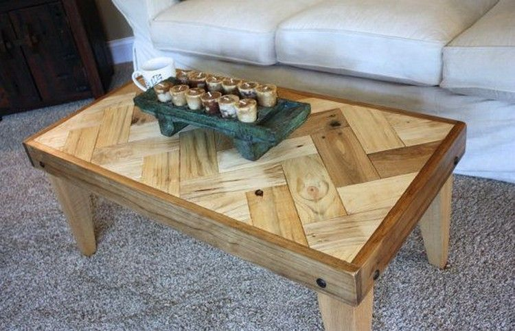 Herringbone Coffee Table, chevron coffee table, country chic, rustic, home,  furniture | Pallet coffee tables, Herringbone and Pallets