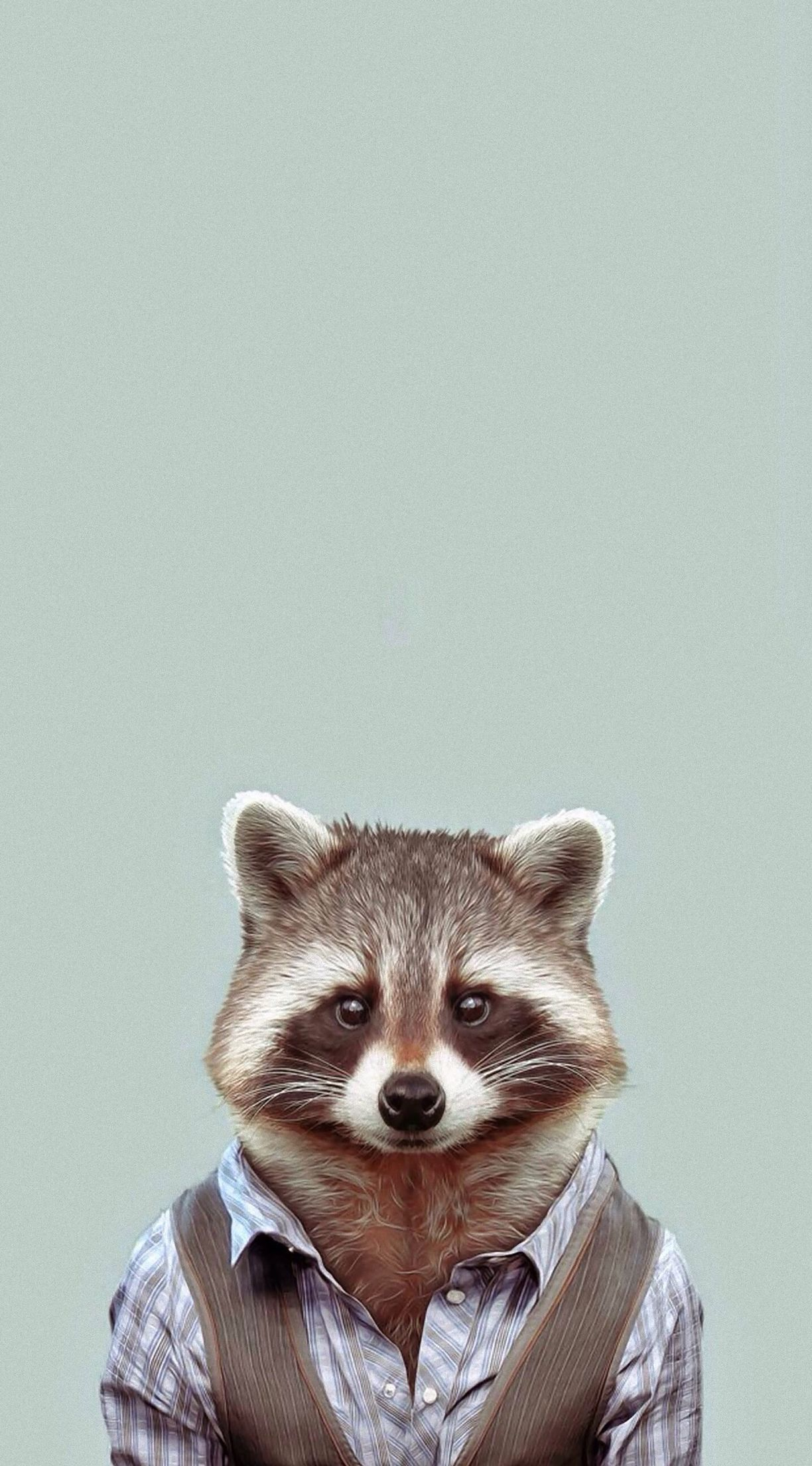 e8c5ce843f Raccoon wearing clothes art Best Photo Frames