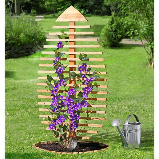 Rankskulptur-Blatt Rankhilfe für Pflanzen Wirksamer Sichtschutz - gartengestaltung mit holz