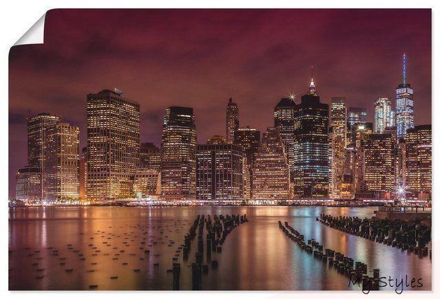 Artland Kunstdruck Poster Melanie Viola New York City Impression