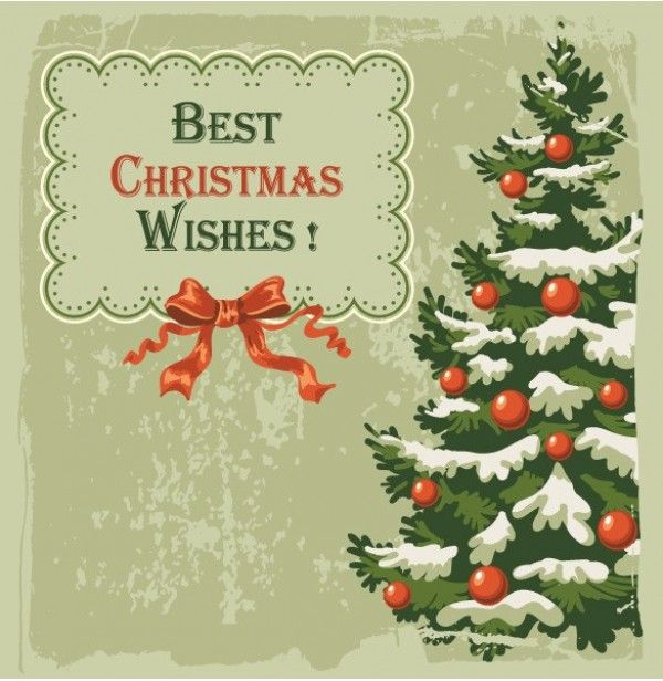 4 Vintage Christmas Card Vector Backgrounds   Http://www.welovesolo.com
