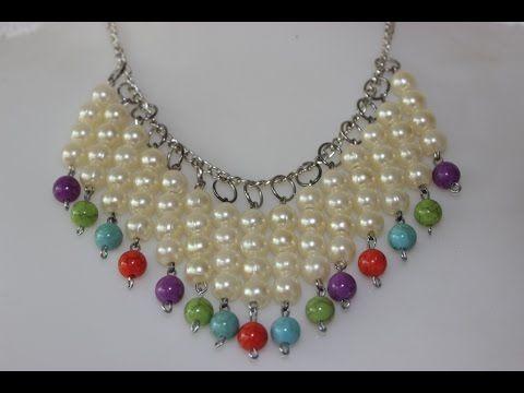 50c111a09d73 Como Hacer un Collar De perlas en Forma de V - YouTube