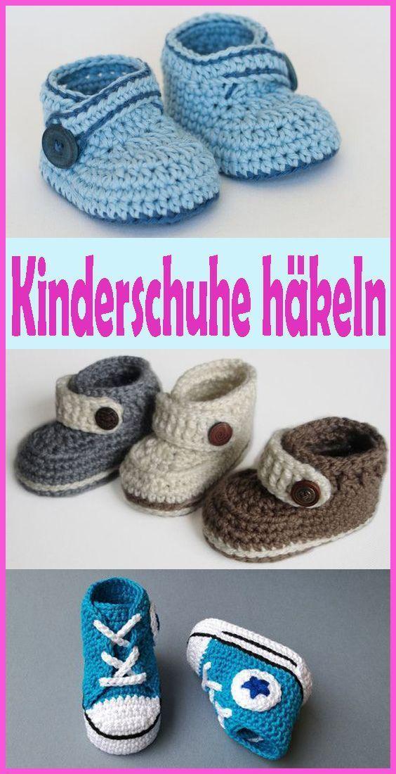Häkeln Sie Kinder & # 39; Shoes - Kostenloses Tutorial für Kin - Kleiner Balkon Ideen,  #Balk... #kleinerbalkon