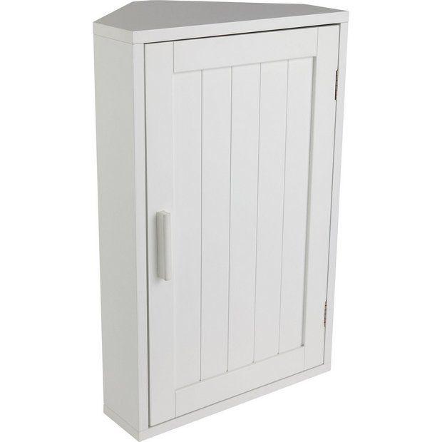Buy HOME Wooden Corner Bathroom Cabinet - White at Argos.co.uk - Your  sc 1 st  Pinterest & Buy HOME Wooden Corner Bathroom Cabinet - White at Argos.co.uk ...