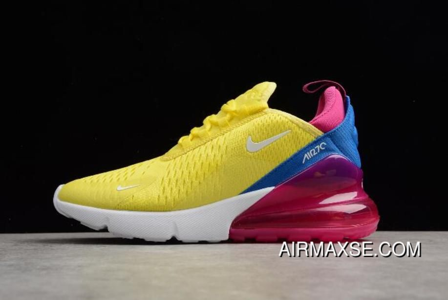 5fc79867fa Women's Nike Air Max 270 Bright Lemon Yellow/White-Racer Blue Latest ...
