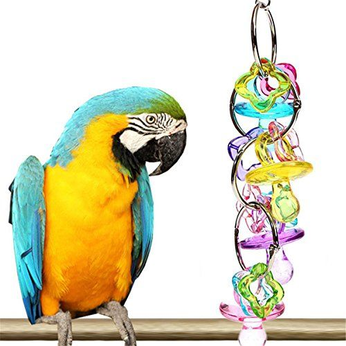 Cocostore Pet Bird Bites Toy Colorful Peck Parrot Cage Play Toys Cockatiel Budgie Lovebird You Can Find More Details By Vi Bird Supplies Bird Toys Pet Bird