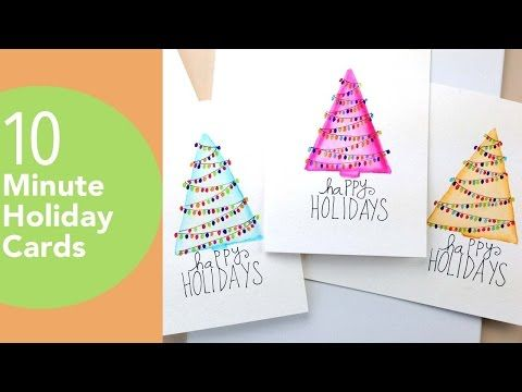 Diy Hand Painted Holiday Cards Diy Holiday Cards Painted