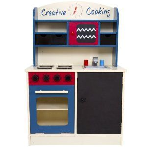 Infantastic Kdk02 Child Play Kitchen Blue Red Amazon Co Uk Toys Games Play Kitchen Sets Wooden Toy Kitchen Play Kitchen