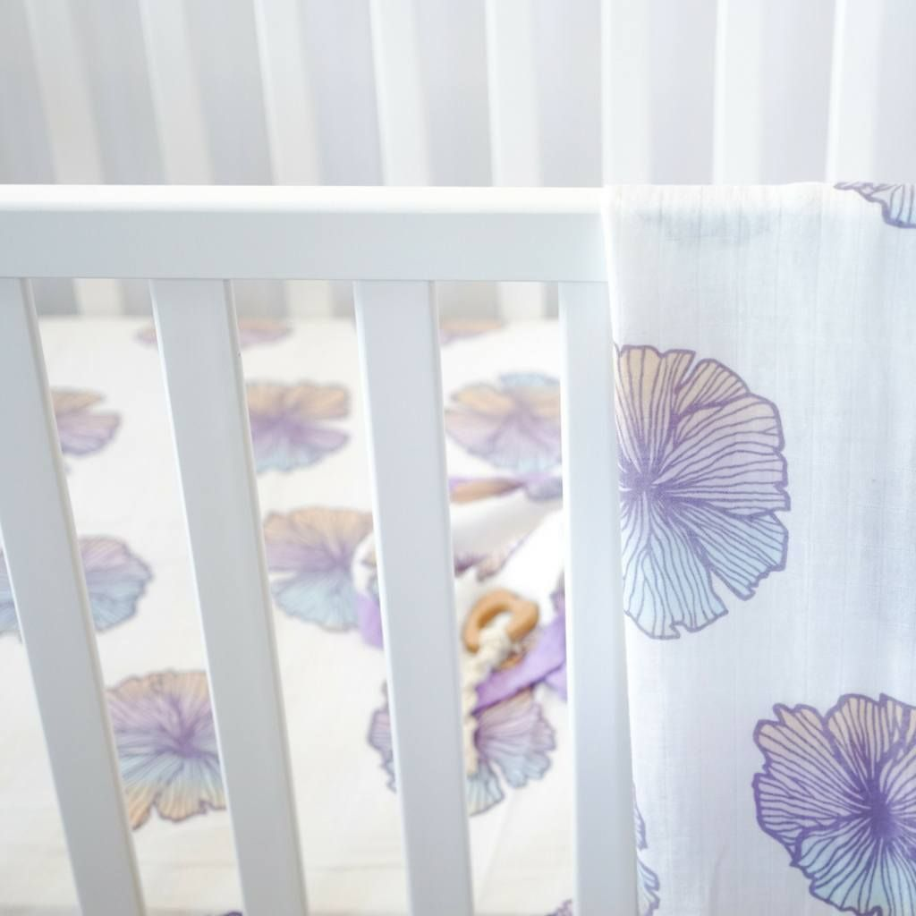Sea Flower Crib Sheet Cribs Crib Sheets Tropical Nursery