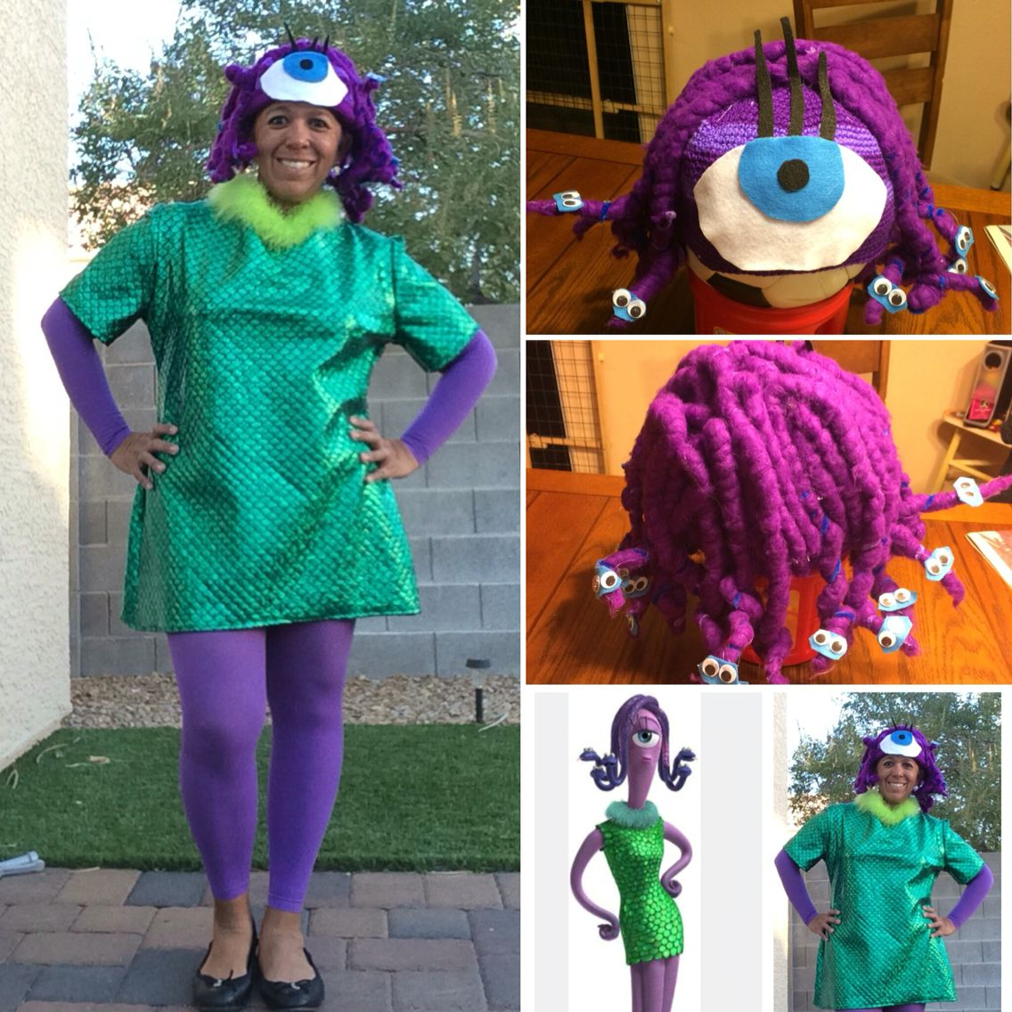 Celia Halloween Costume From Monster S Inc Head Of Snakes Was