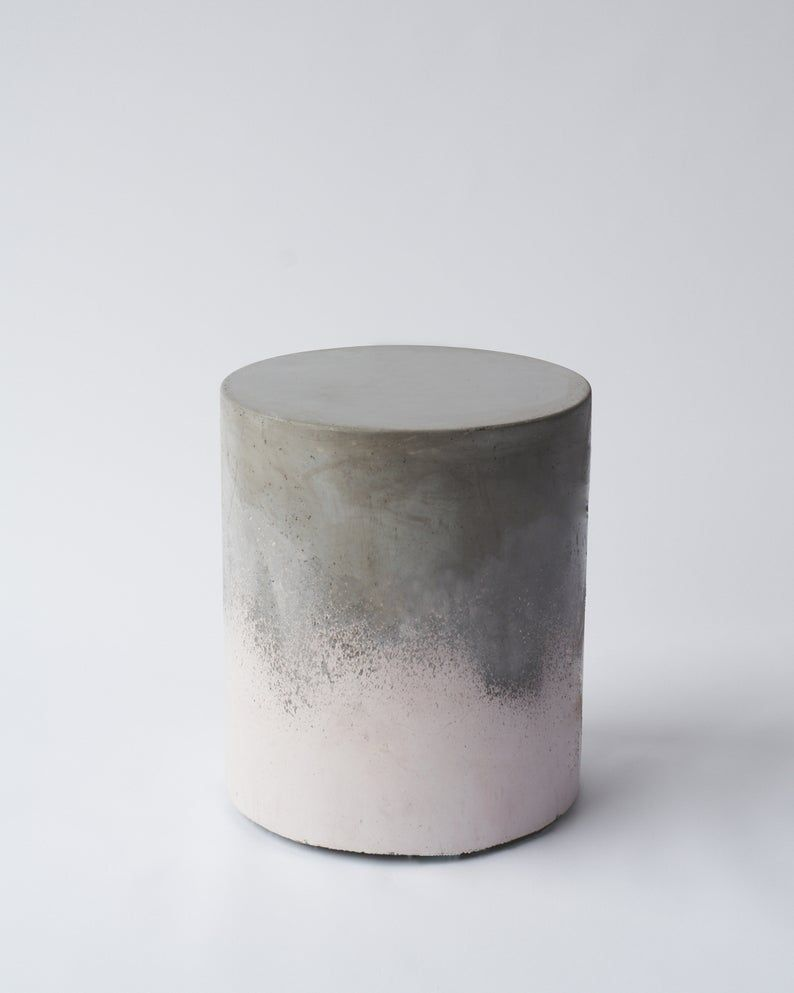 Colorful Chromatic Concrete Side Tables Bedside Table Coffee Table Round Concrete Table Ombre Color Indoor Outdoor Light Weight West Elm Concrete Coffee Table Side Table Concrete Table [ 993 x 794 Pixel ]