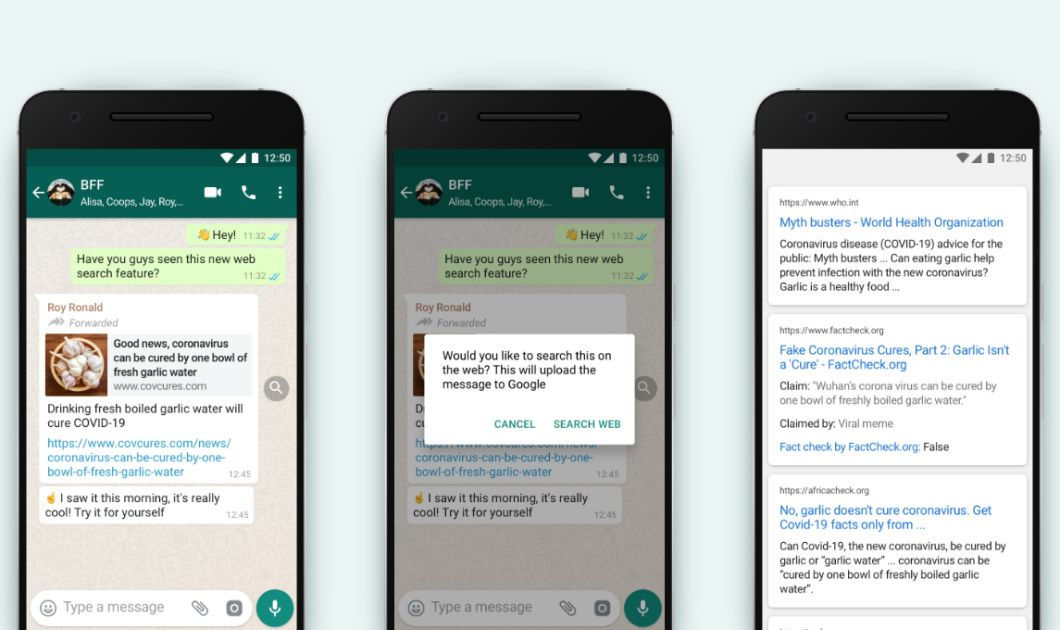 Whatsapp Makes It Easier To Fact Check Forwarded Messages In 2020 Samsung Galaxy Smartphone Messages Galaxy Smartphone