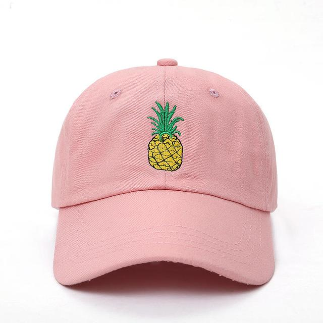 Dad hat hut pink pineapple hat  e39267daf50f