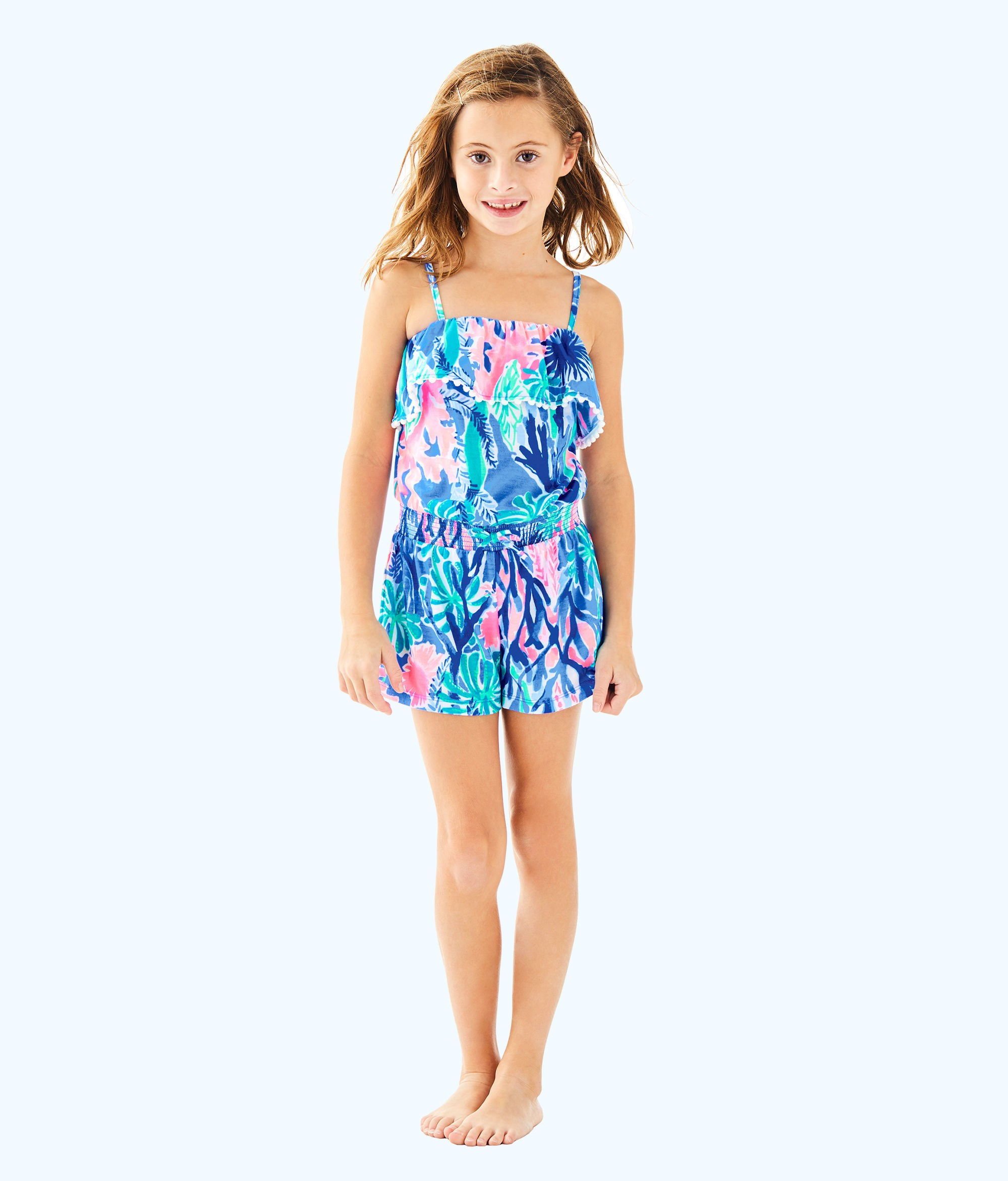 3693eb6d932d27 Lilly Pulitzer Girls Leonie Romper - S | Products | Knitted romper ...
